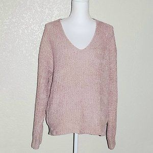 Express Dusty Rose Cable Knit Chenille Sweater NWT